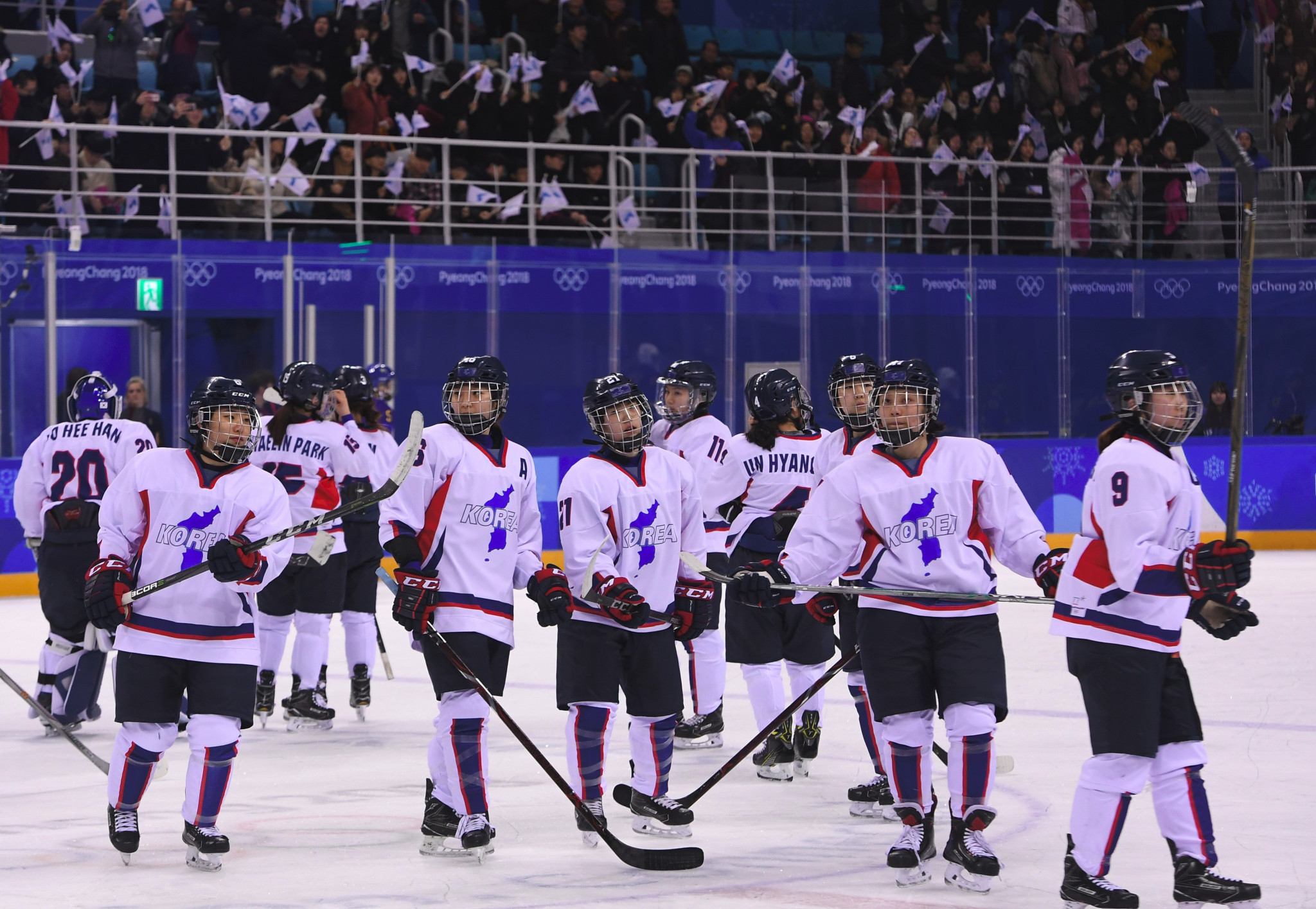 A unified Korean ice hockey women's team featured at Pyeongchang 2018 ©Getty Images