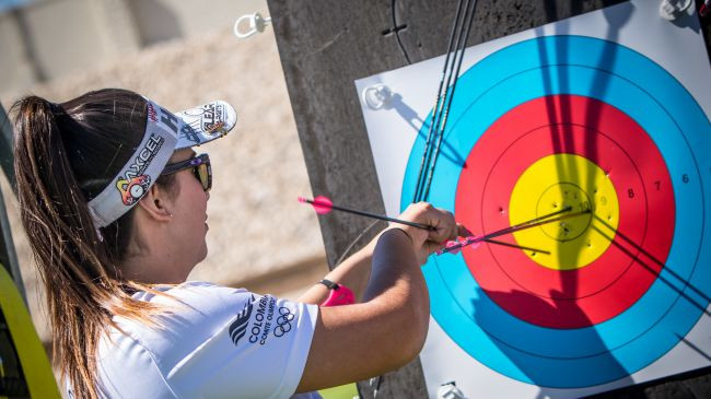 Columbia's Sara Lopez has grabbed the top seed for the women's compound main event, which starts tomorrow ©World Archery
