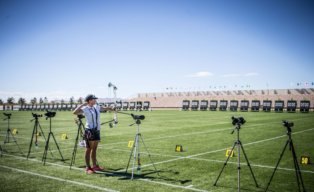 Archers across the board struggled to deal with windy conditions today, at the Hyundai Archery World Cup in Salt Lake City ©World Archery