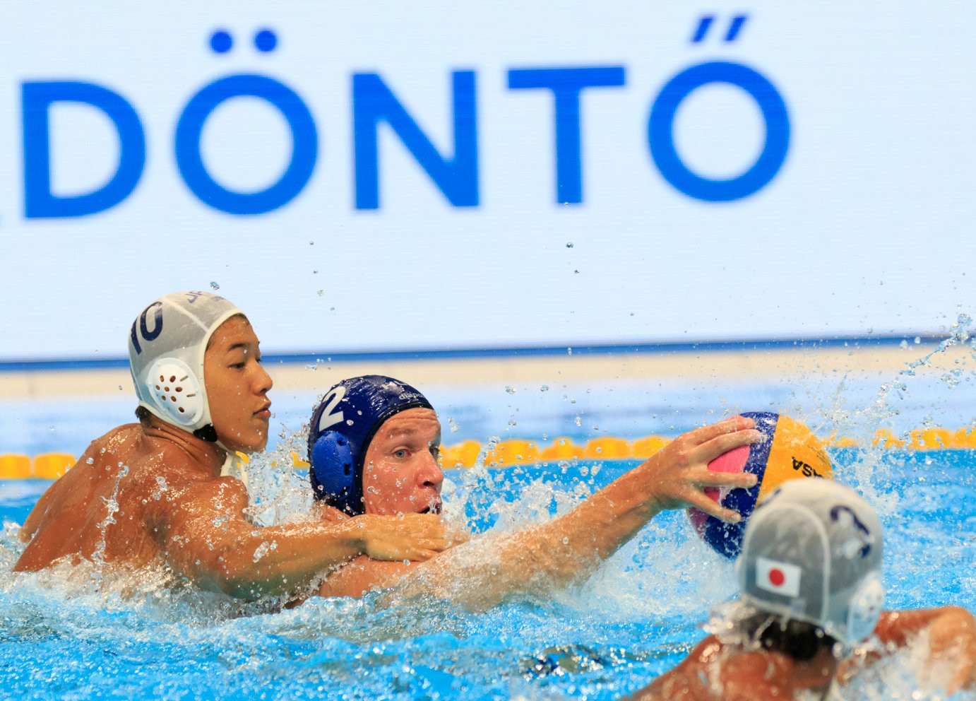 Hungary exploited the physical strength of their forwards to beat Japan ©FINA