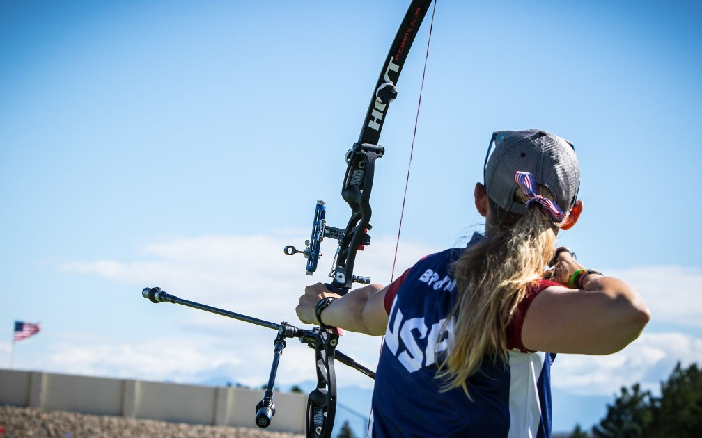 America's Mackenzie Brown claimed the strong winds in Salt Lake City actually helped her and Brady Ellison to thrive ©World Archery