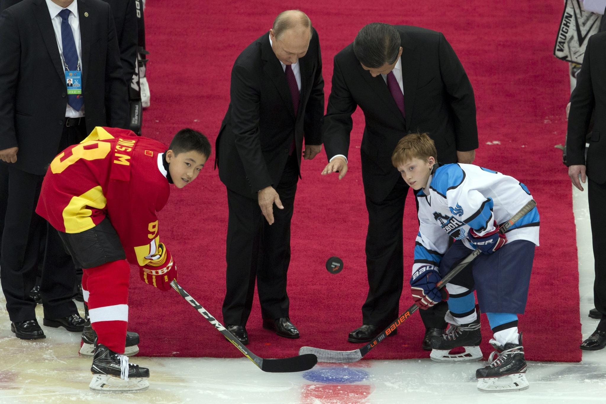 The youth team ice hockey match took place in Tianjin ©Getty Images