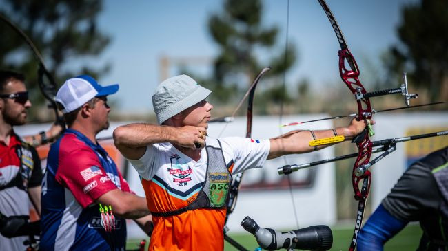The Netherlands' Steve Wijler is through to the men's recurve final ©World Archery