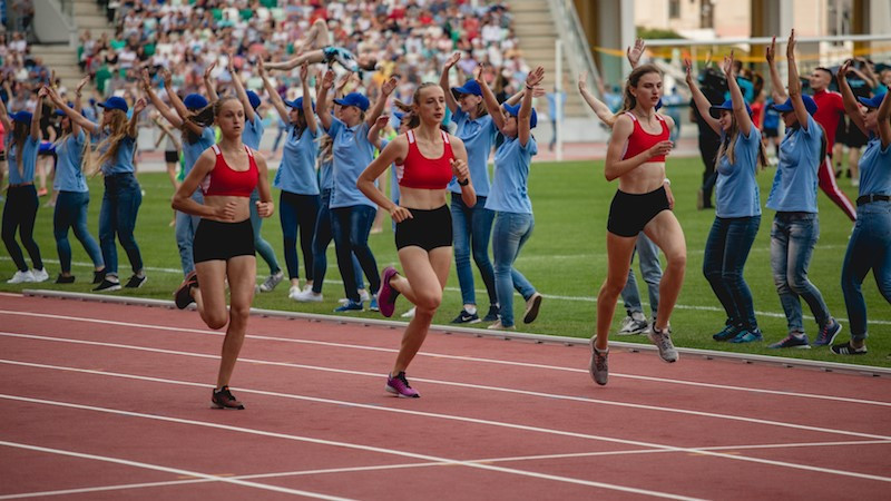 An athletics relay was also held as part of the celebrations ©EOC