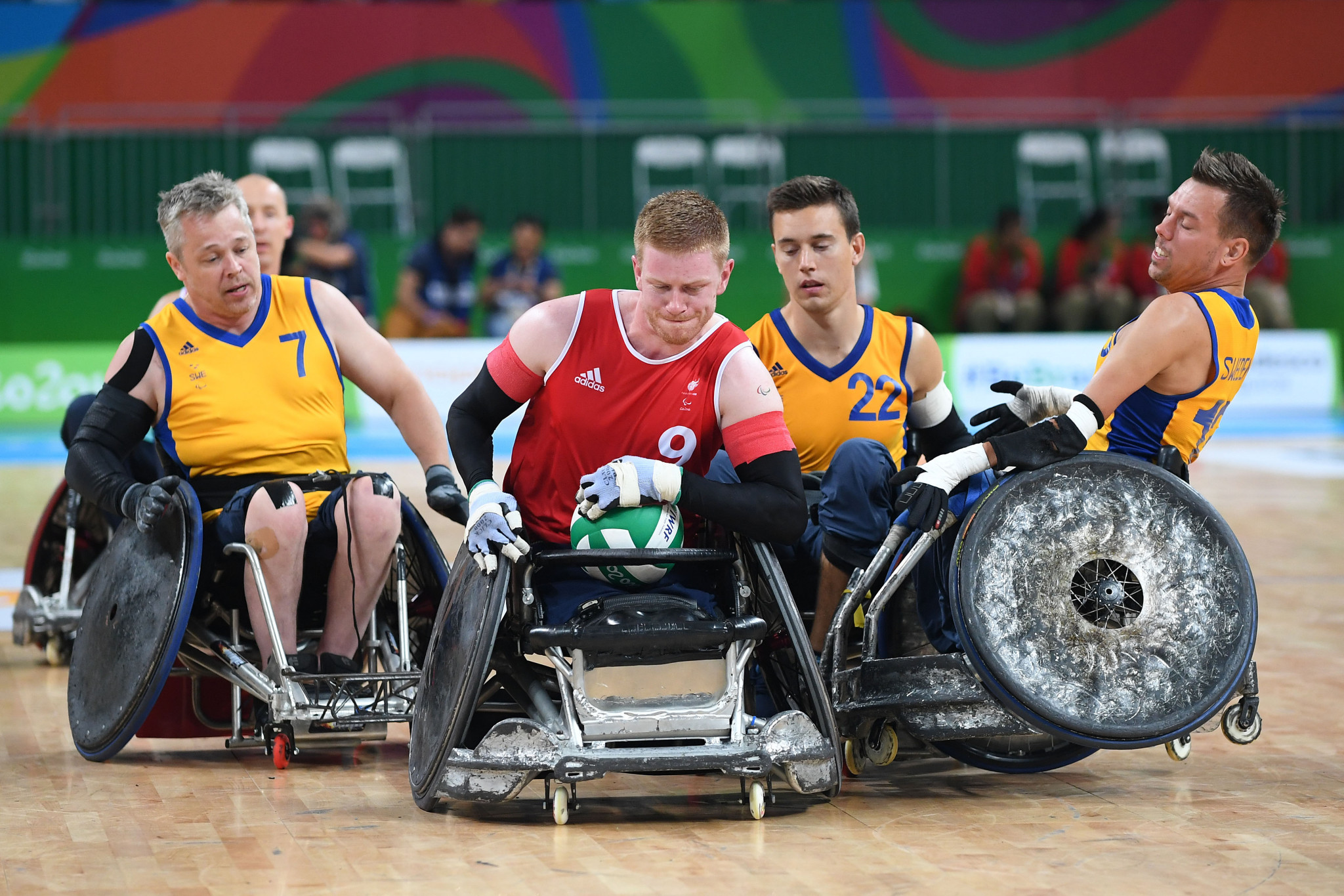 Wheelchair rugby has grown into a major Paralympic sport ©Getty Images