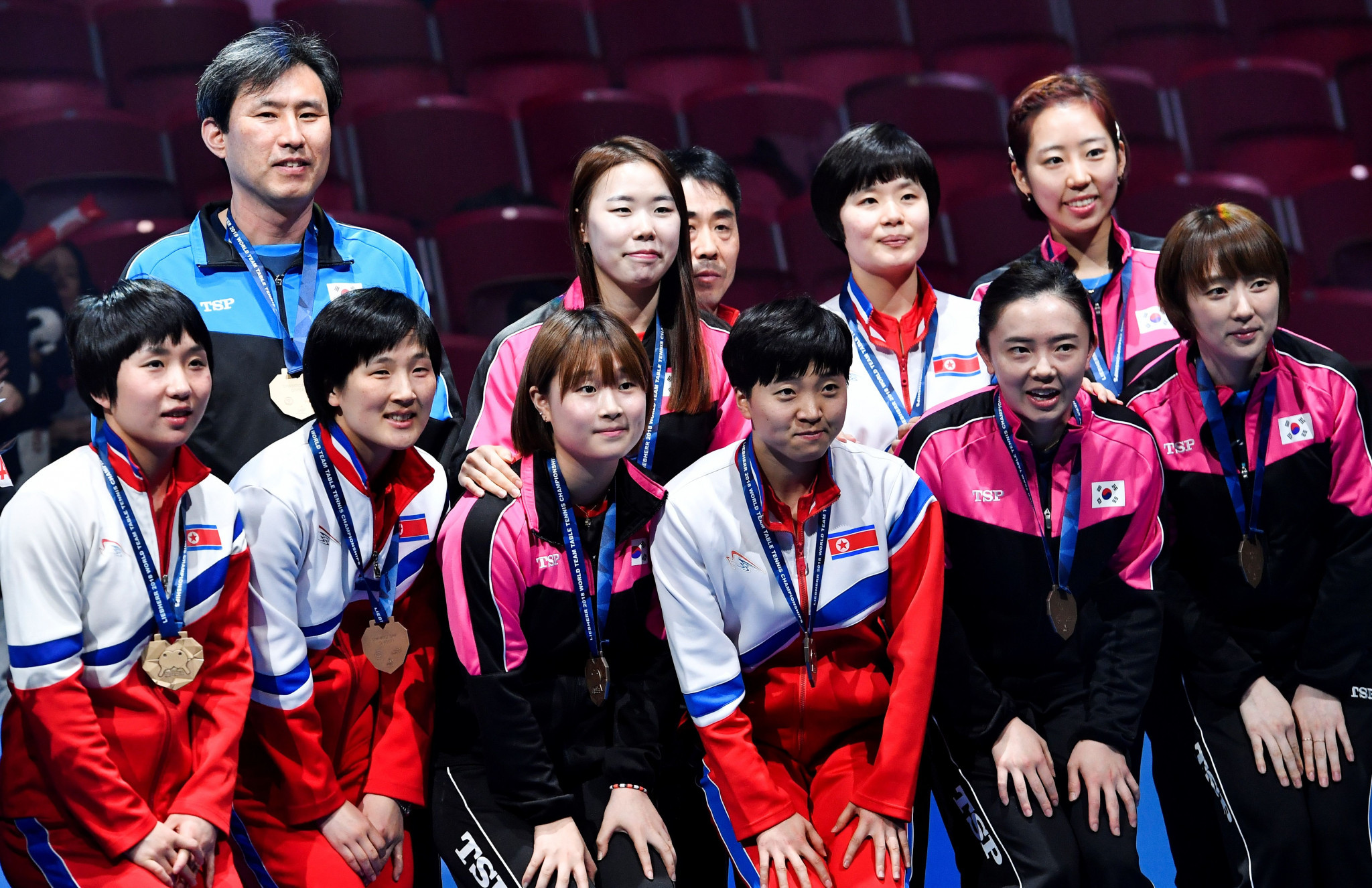 North and South Korea competed together at the recent World Team Table Tennis Championships in Halmstad in Sweden ©Getty Images
