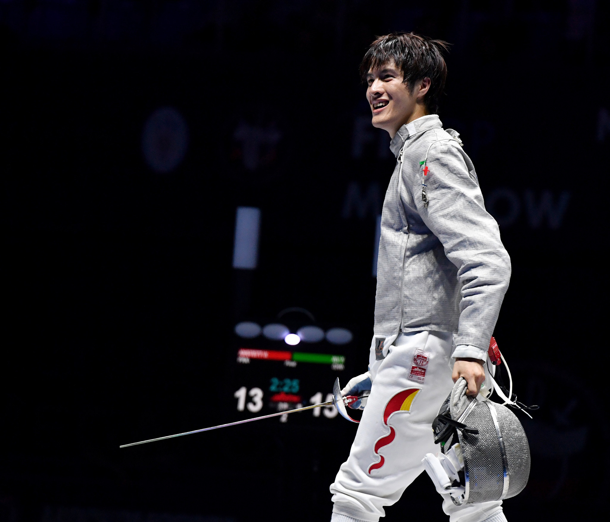 Xu Yingming helped China to men's team sabre gold ©Getty Images