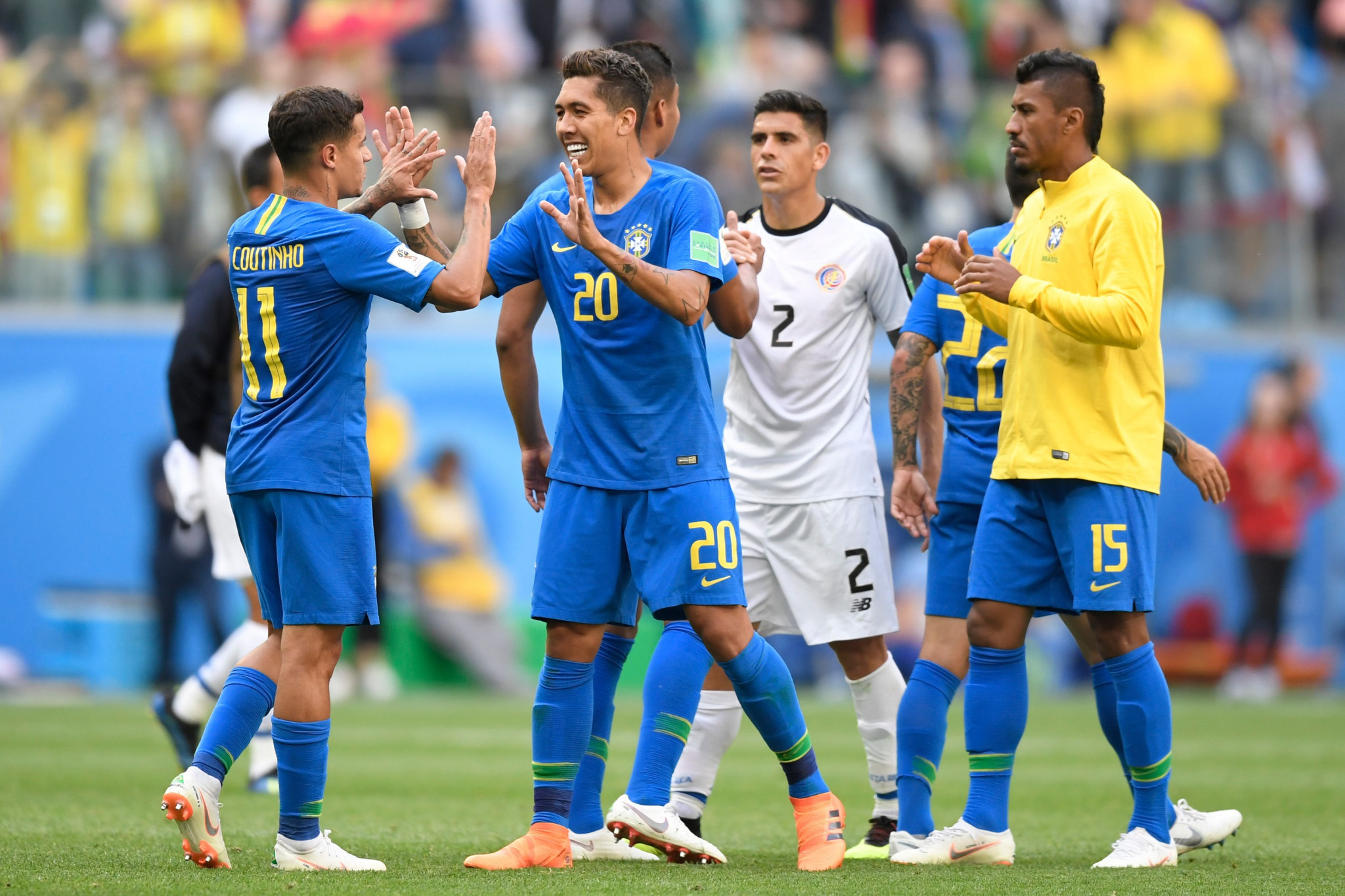 Brazil leave it late to claim victory over Costa Rica at FIFA World Cup