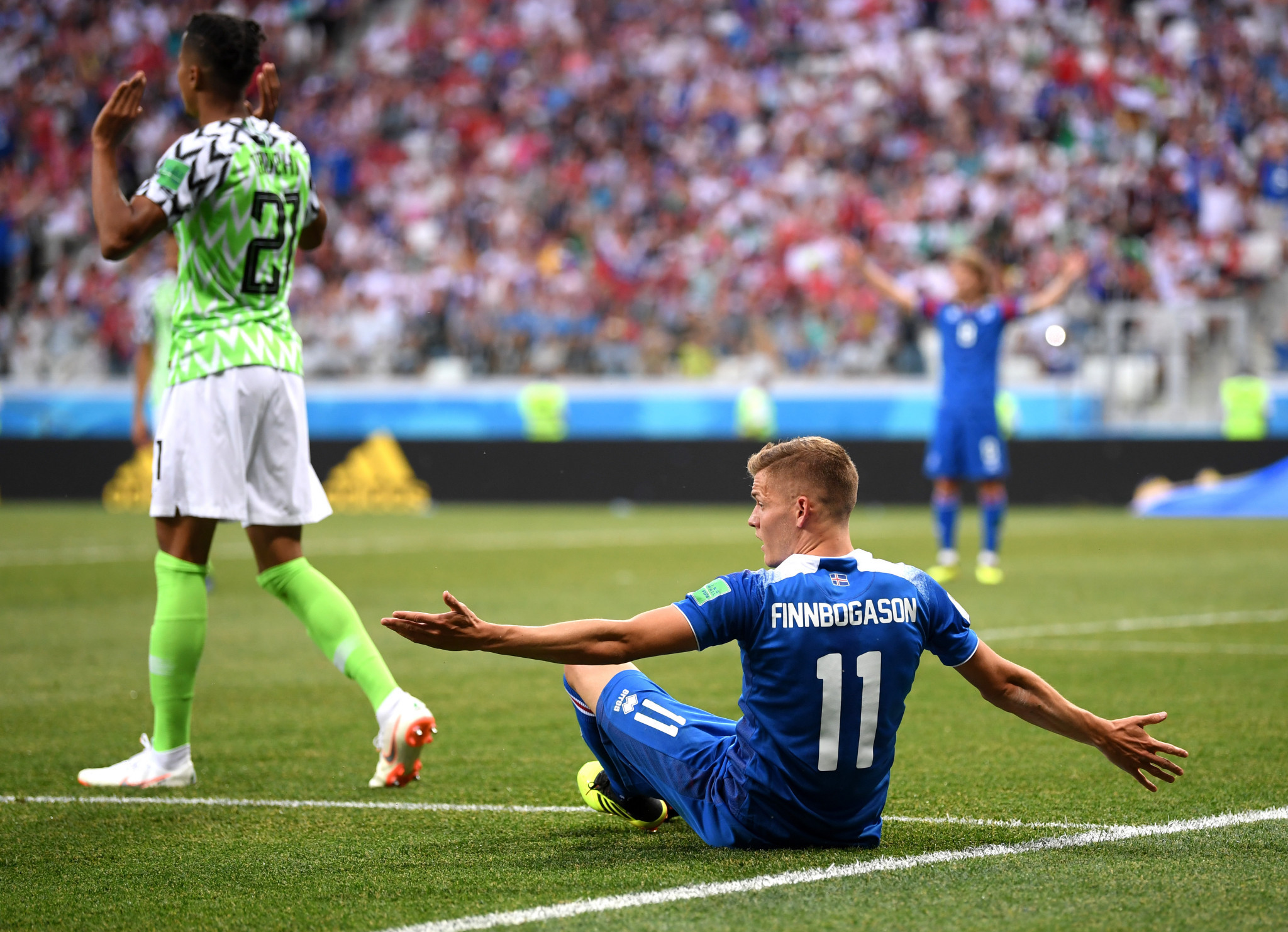 It came after Alfred Finnbogason had earned a penalty following a Video Assistant Referee review ©Getty Images