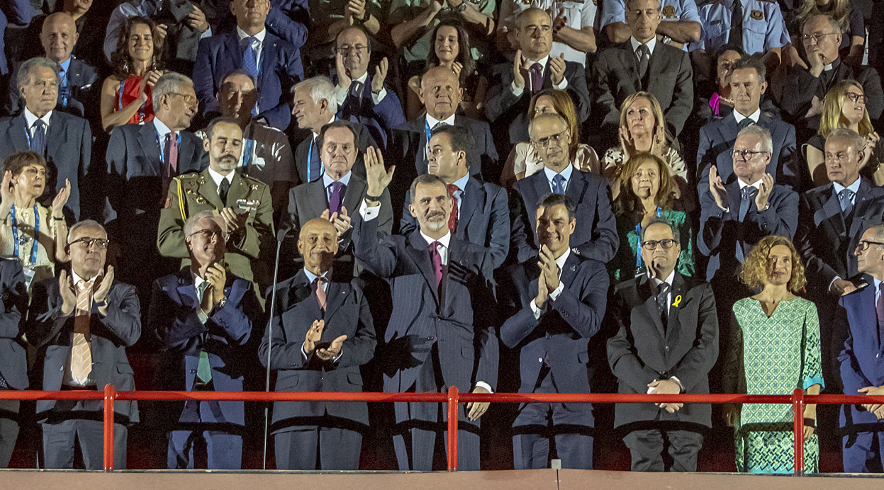 King Felipe opened the 18th Mediterranean Games in Tarragona's Estadi Gimnastic amid jeers and cheers ©Tarragona 2018