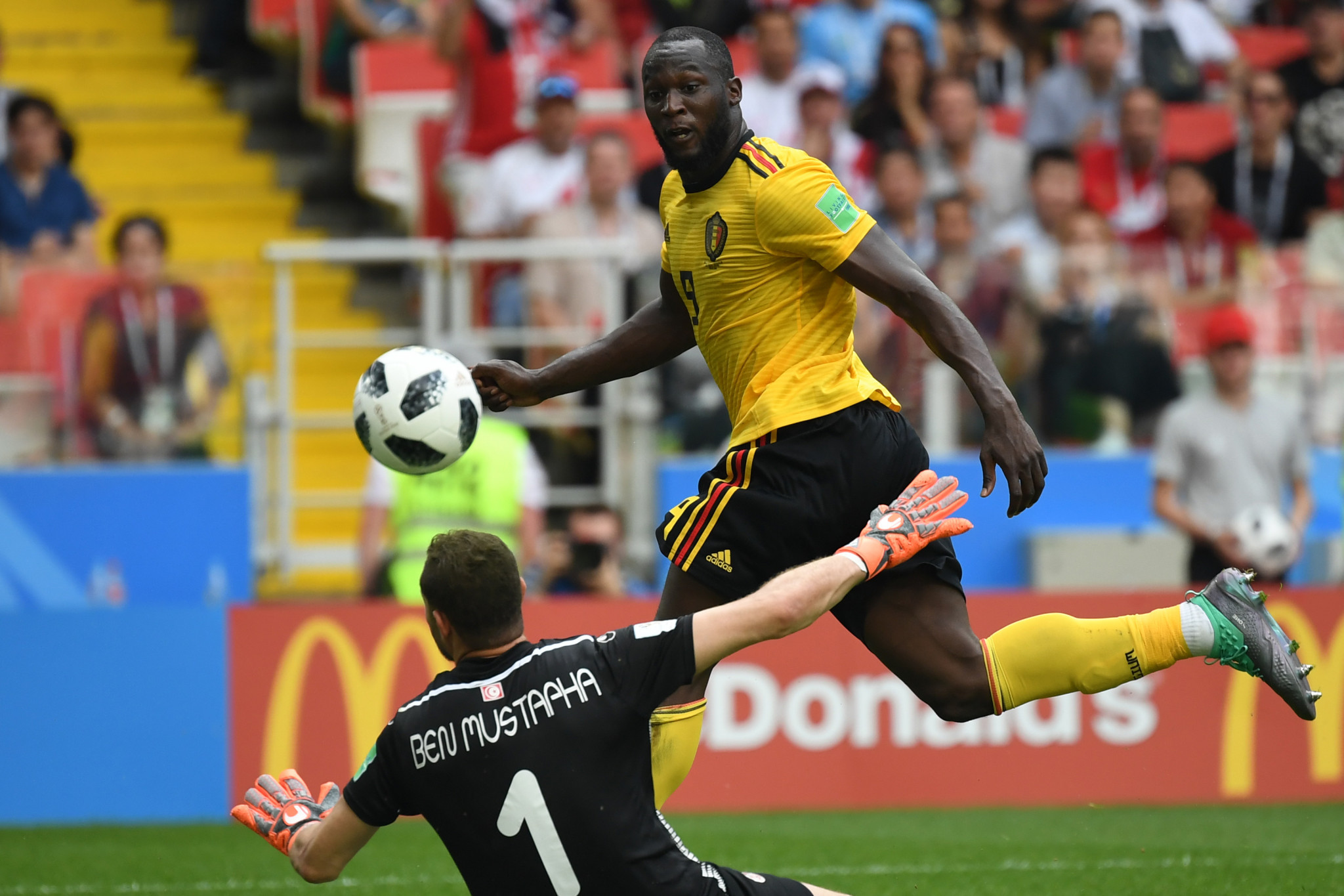 Romelu Lukaku struck twice as Belgium eased past Tunisia in Group G ©Getty Images