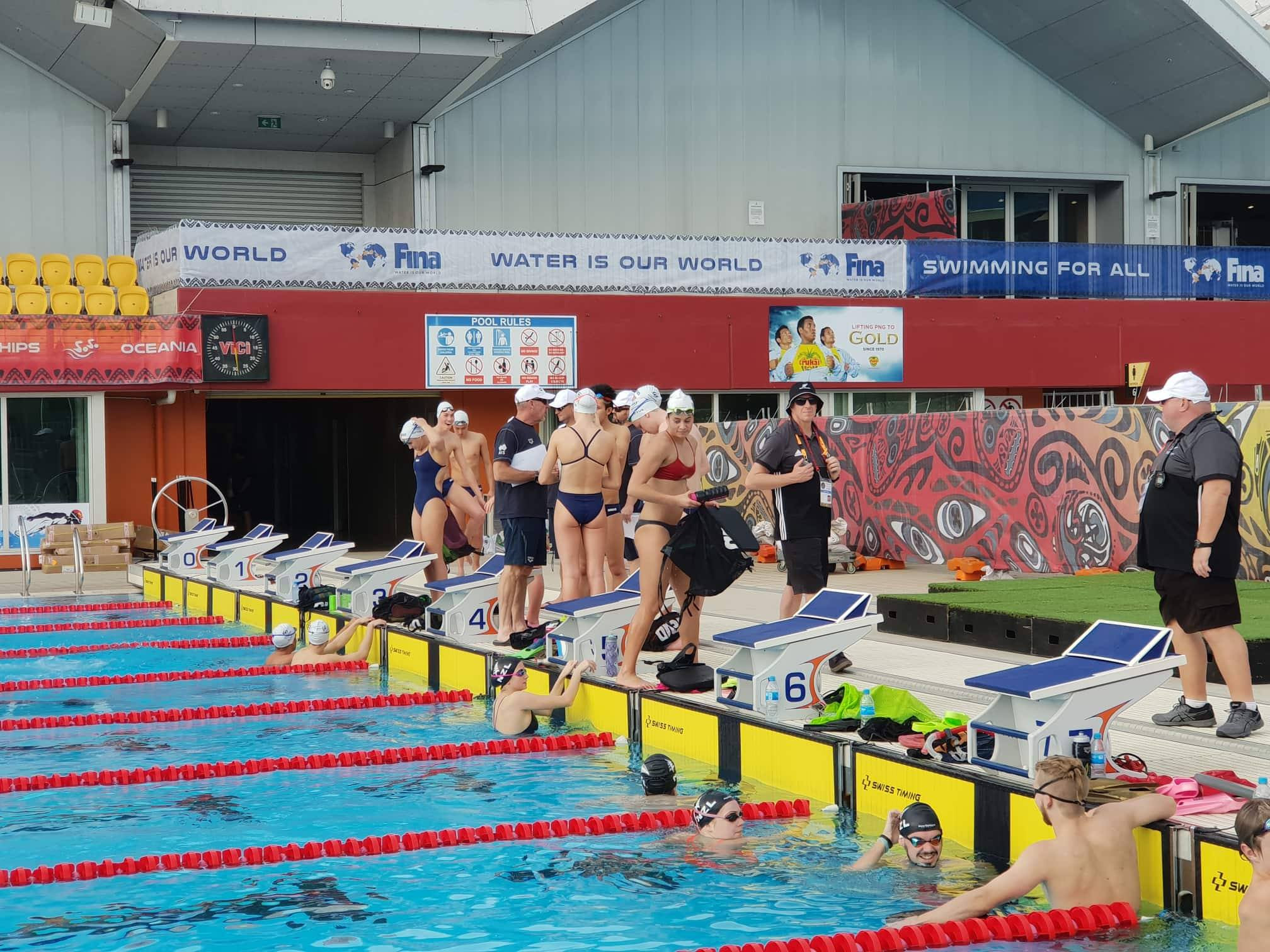 Athletes arrive in Port Moresby for Oceania Swimming Championships