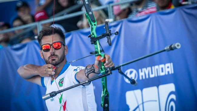 Italy's Mauro Nespoli sealed his maiden individual Archery World Cup victory as he won the men's recurve event ©World Archery