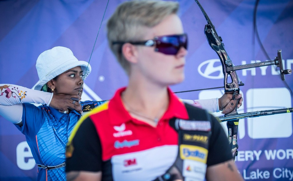 Deepika Kumari of India also qualified for the World Cup final after she sealed the gold medal in the women's individual recurve event ©World Archery
