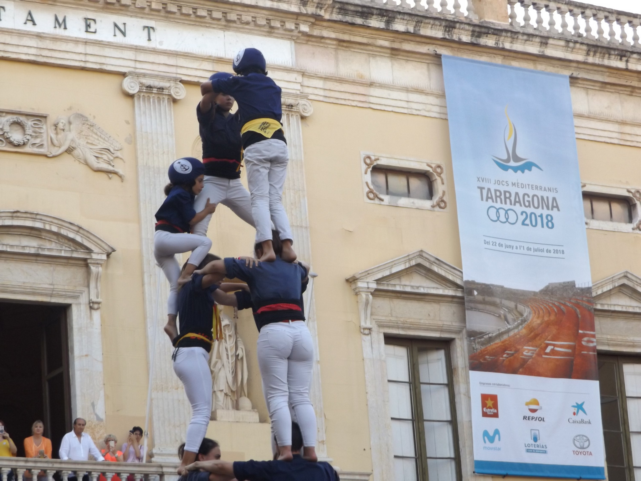 Traditional climbing part of cultural events at Mediterranean Games