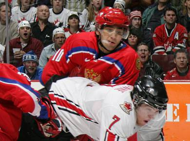 Sergei Ogorodnikov won the IIHF Under-18 world title in 2004 ©IIHF