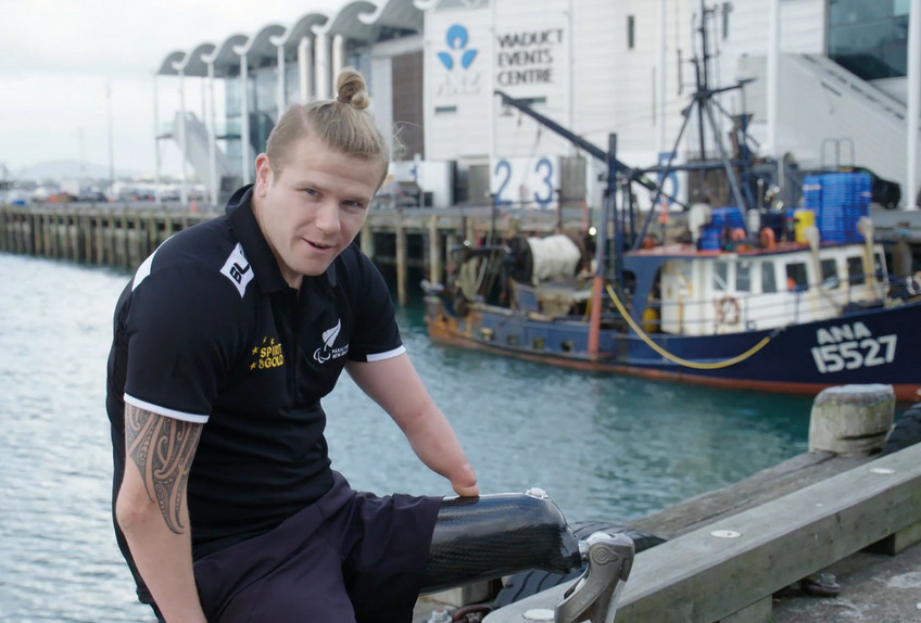 Triple Paralympic champion Cameron Leslie has backed a health and safety campaign run by New Zealnd's biggest fishing company Sanford ©Paralympics New Zealand