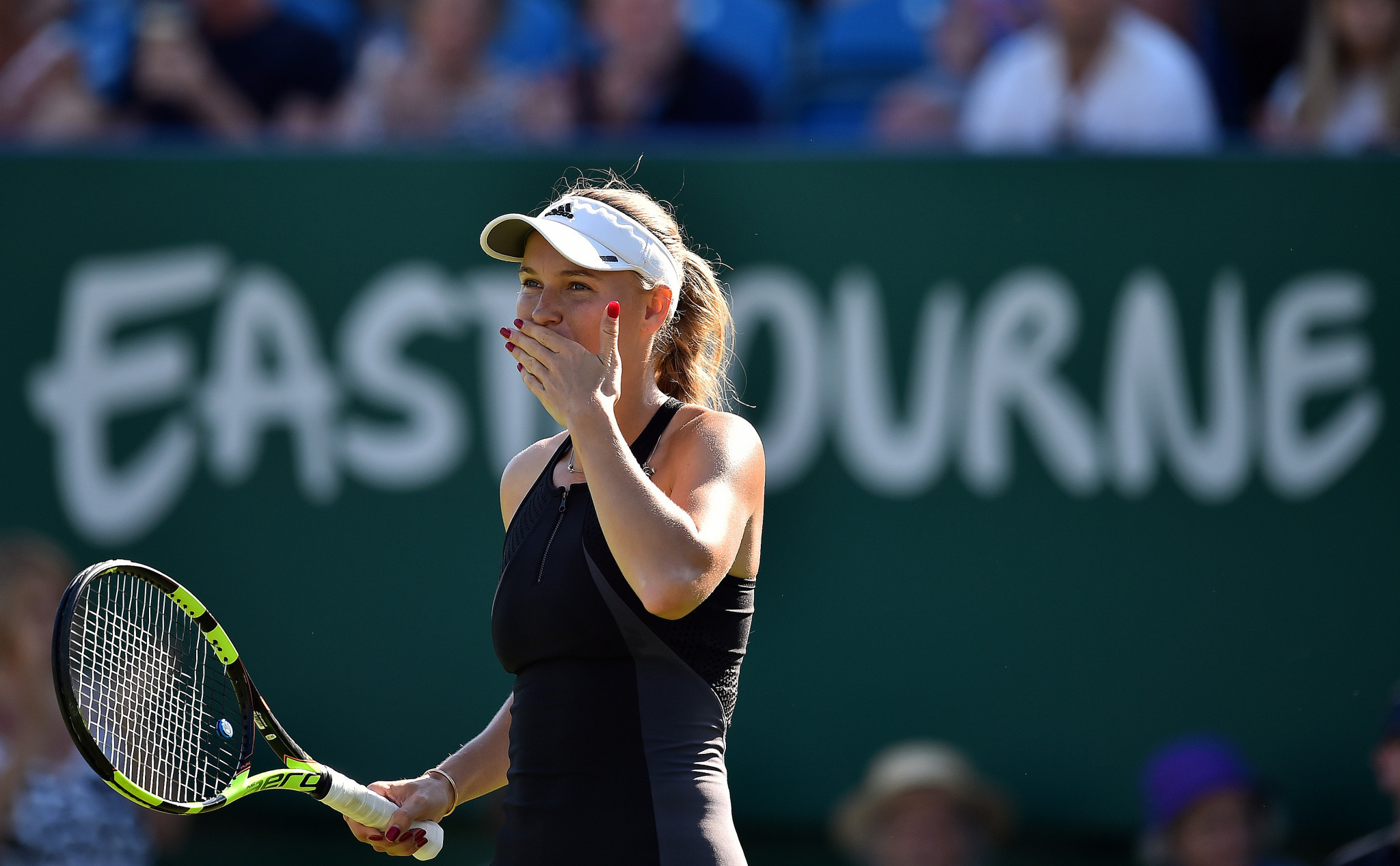 Top seed Caroline Wozniacki safely progressed to the third round of the Women's Tennis Association Eastbourne International ©Getty Images
