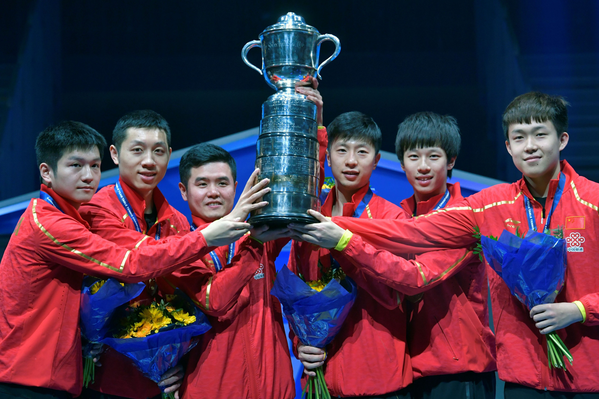 Li-Ning have also sponsored the Chinese table tennis team ©Getty Images
