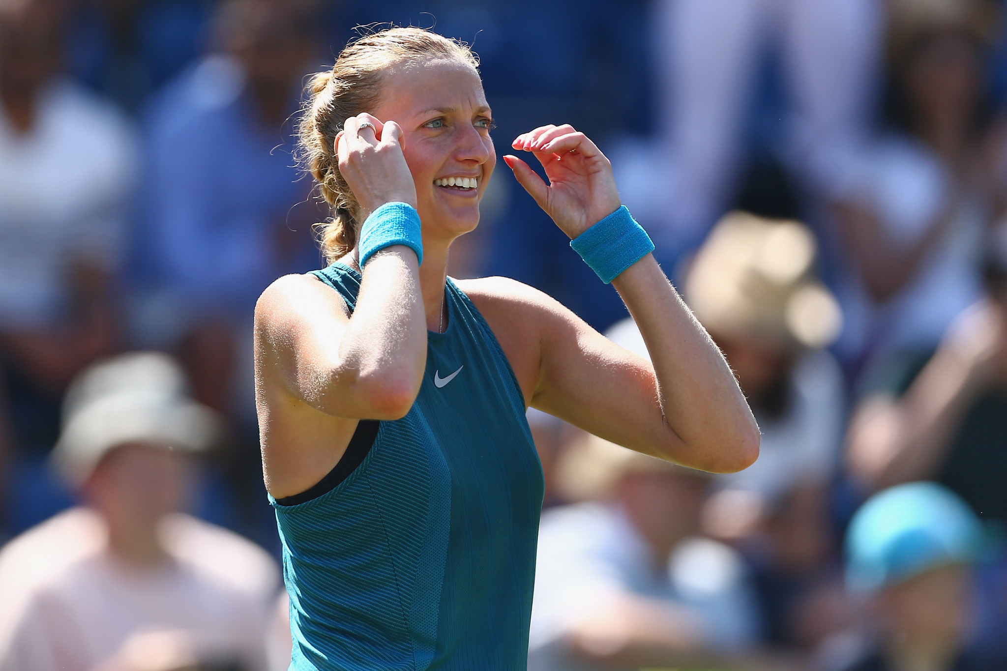 Petra Kvitová of the Czech Republic maintained her fine run of form as the two-time Wimbledon champion dispatched Kateryna Bondarenko of Ukraine to reach the third round ©Getty Images