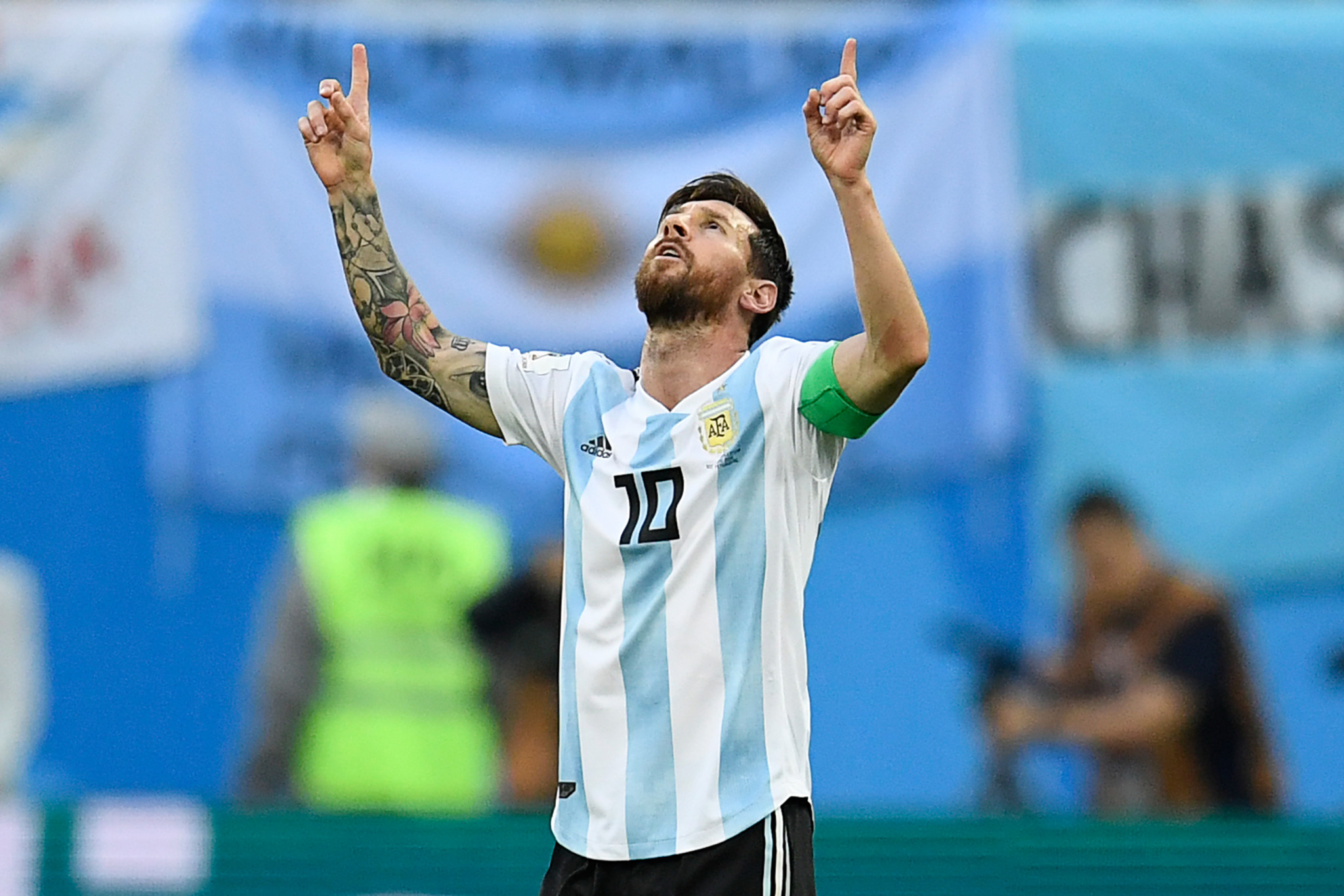 Argentina's Lionel Messi scored his first goal of the 2018 FIFA World Cup ©Getty Images