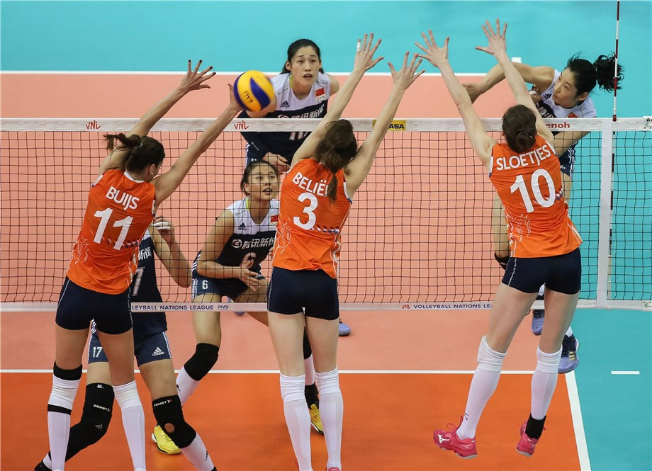 China also won today as they beat The Netherlands in four sets ©FIVB