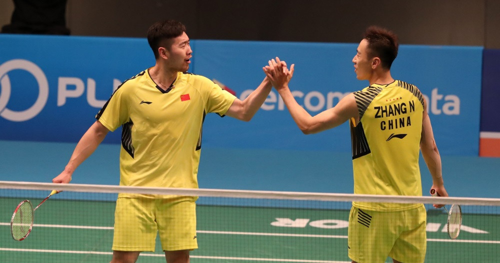 China's Huang Kaixiang and Wang Yilyu beat the Danish fifth seeds of Mads Conrad-Petersen and Mads Pieler Kolding in the only surprise result of the day at the Malaysia Open ©BWF