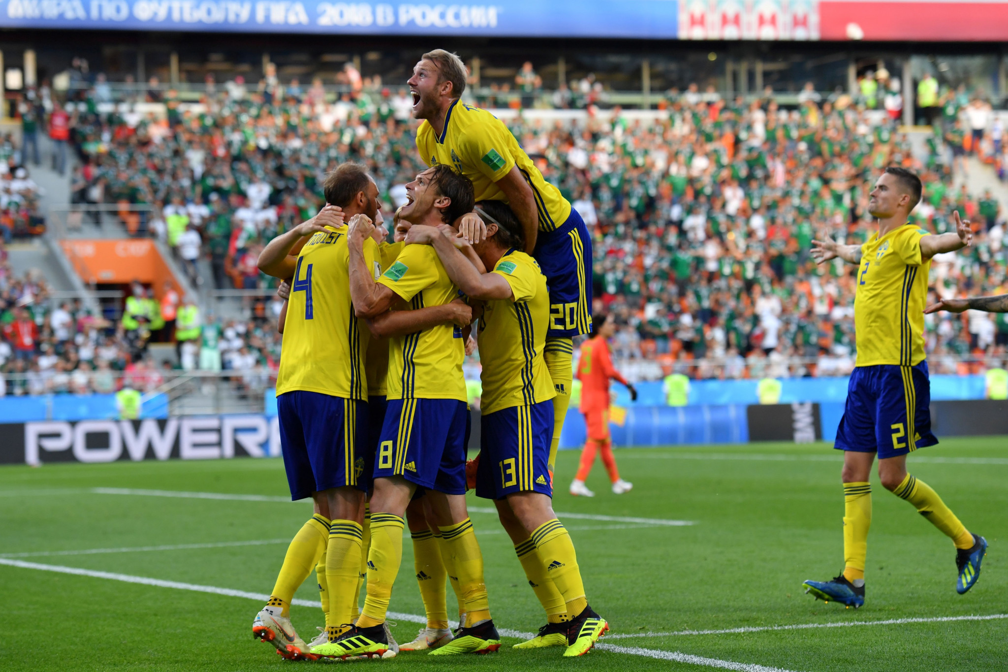 Sweden produced a superb performance against Mexico to top Group F ©Getty Images