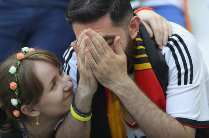 Germany's fans were left in shock after the World Cup holders failed to qualify from the group states in Russia ©Getty Images