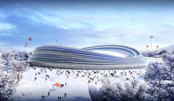 Construction work will feature the installation of 22 separate light arcs, or ribbons, running around its exterior to symbolise the speed of the sport ©Beijing State-owned Assets Management Company