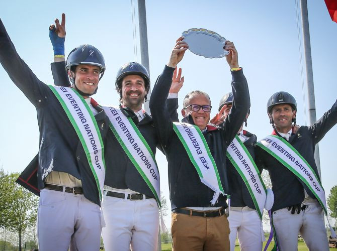 France took the win in this year's first event of the FEI Eventing Nations Leaguein Vairano ©FEI