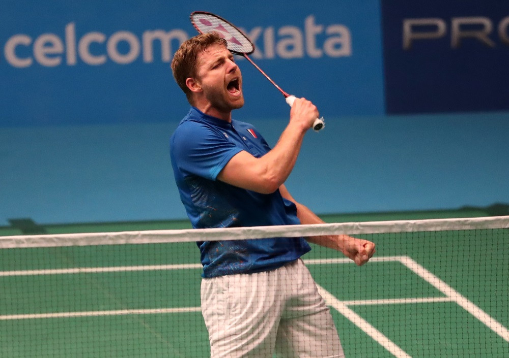 France's Brice Leverdez won the game of the day at the Malaysia Open, beating Indonesia's Jonatan Christie ©BWF