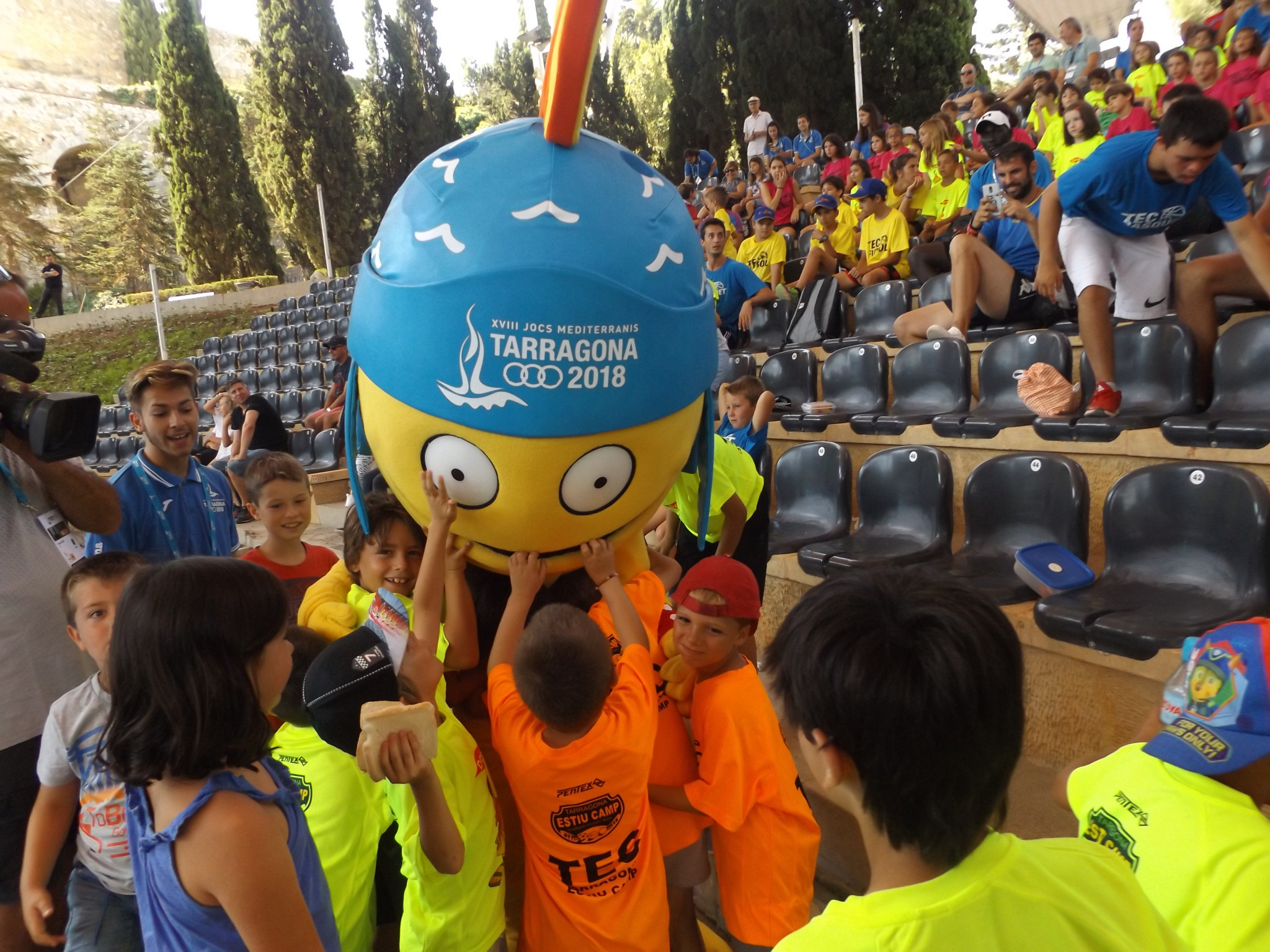 Tarracus proved to be an extremely popular mascot ©ITG