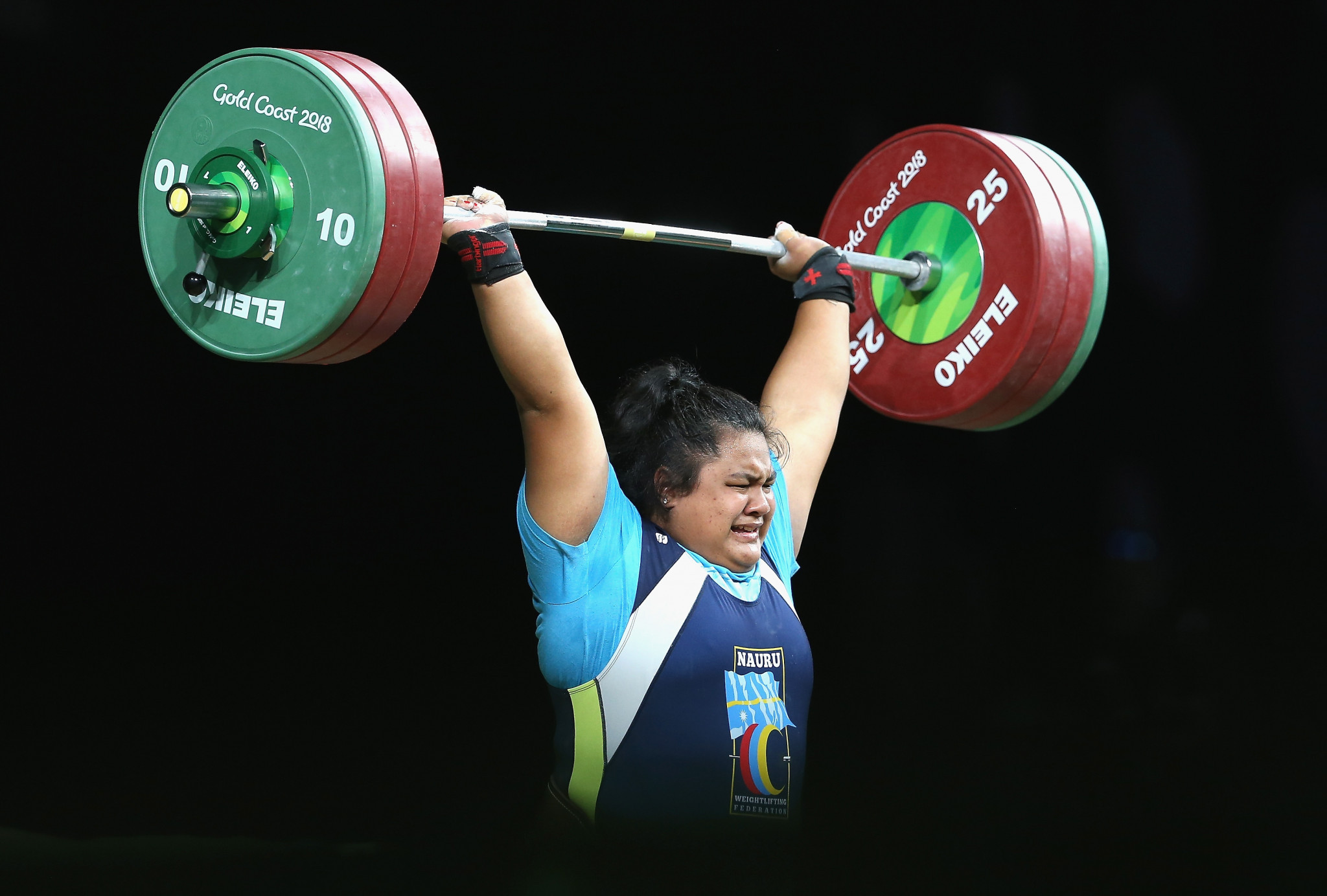 Charisma Amoe-Tarrant of Nauru was among other gold medal winners ©Getty Images