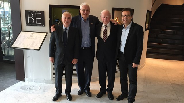 European Athletics President Svein Arne Hansen (second left) has invited Thomas Bach, Sebastian Coe and Patrick Hickey (seodn right) as keynote speakers at next month's European Athletics Convention  ©Getty Images