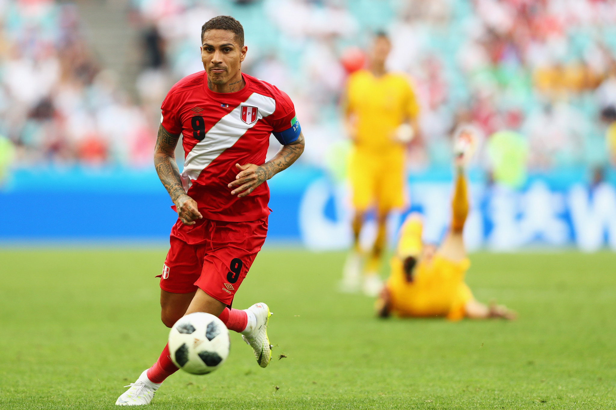 Peru captain Paolo Guerrero was nearly banned from the tournament following a failed drugs test, but no failures have been announced during the World Cup ©Getty Images