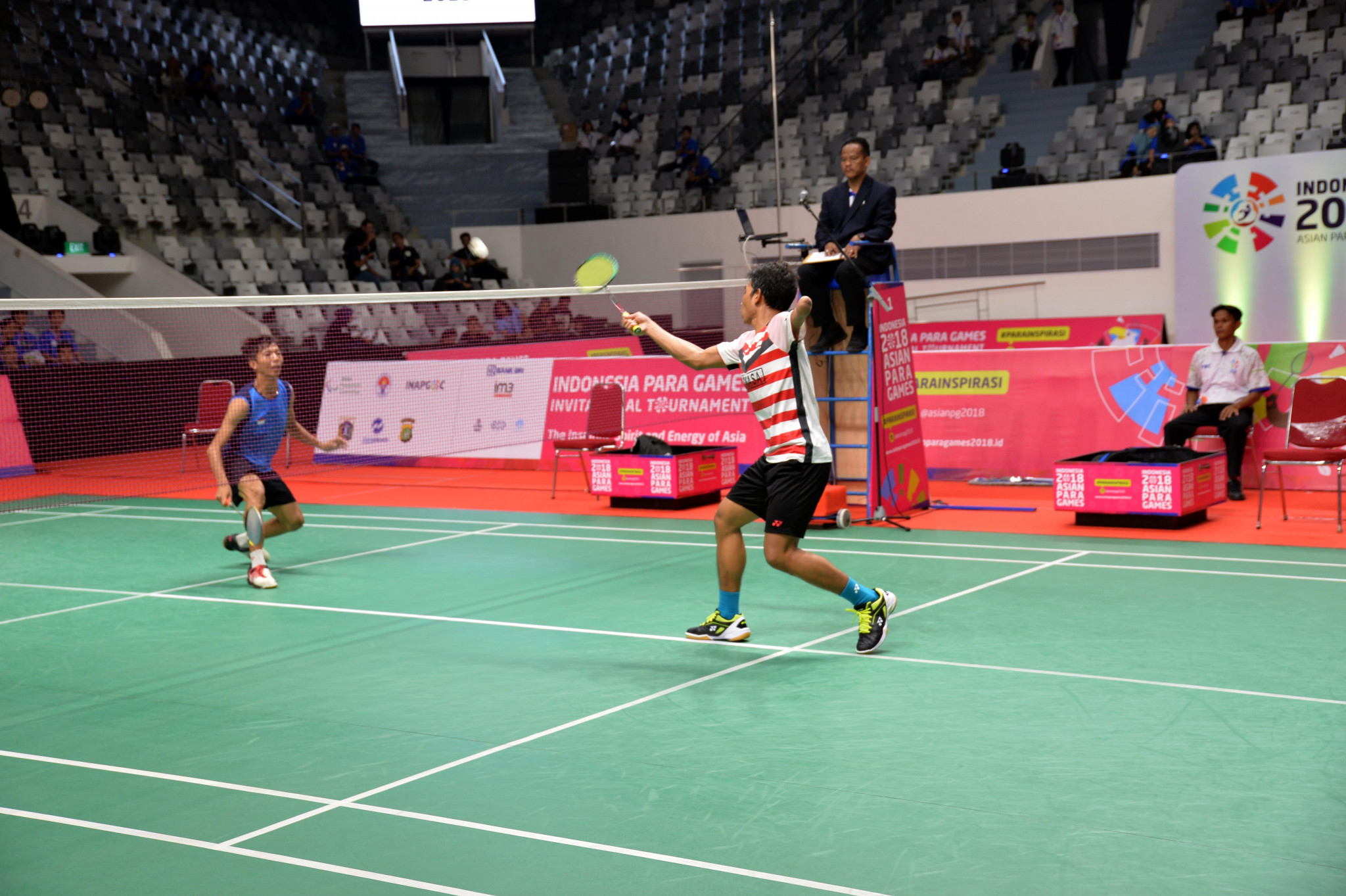 As part of the 100-days-to-go celebration, the test events for the 2018 Asian Para Games begun with a badminton competition ©INAPGOC and APC