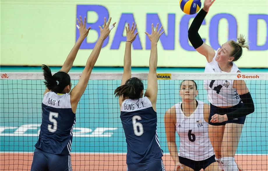 The United States knocked out hosts China ©FIVB