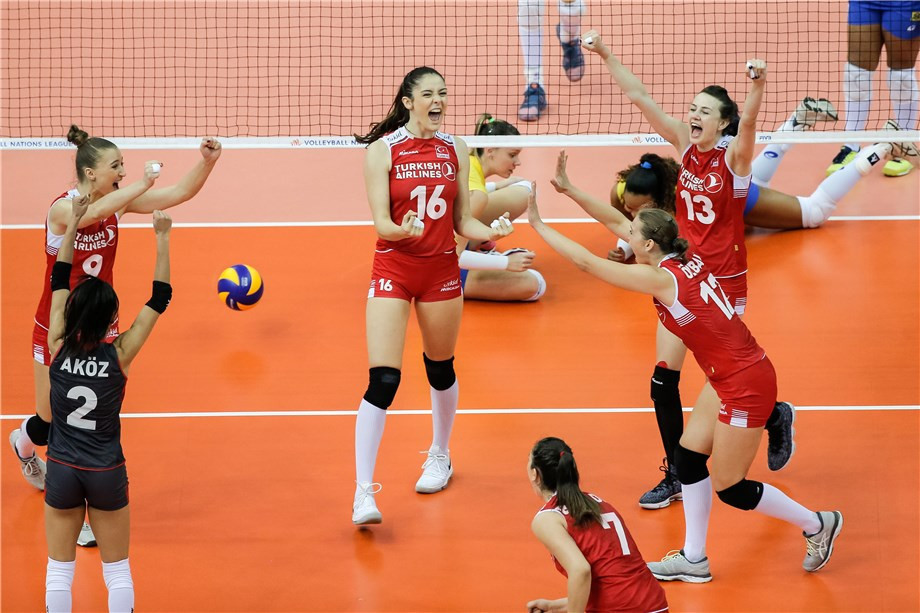Turkey stunned Brazil in straight sets ©FIVB
