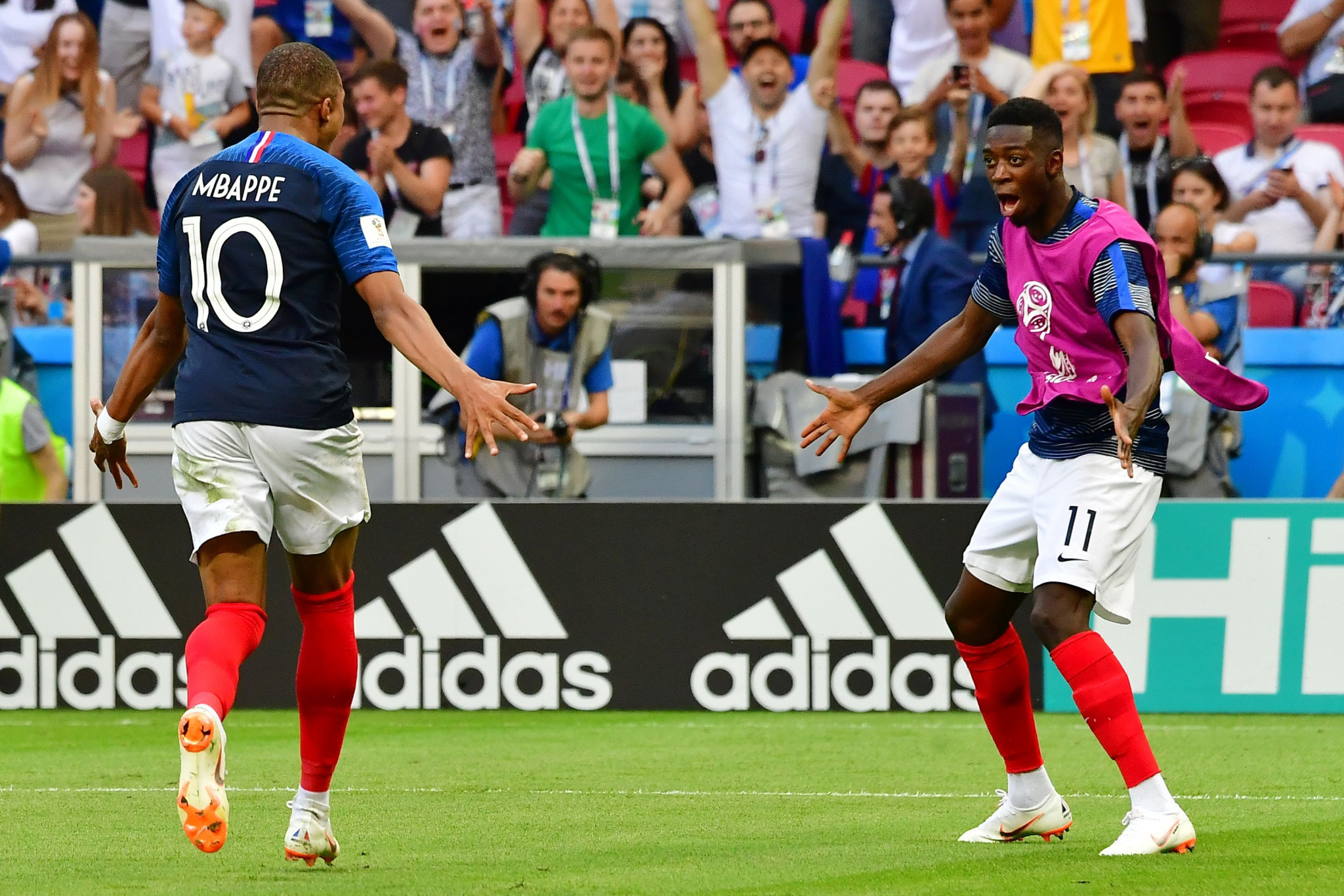 Kylian Mbappe starred as France beat Argentina ©Getty Images