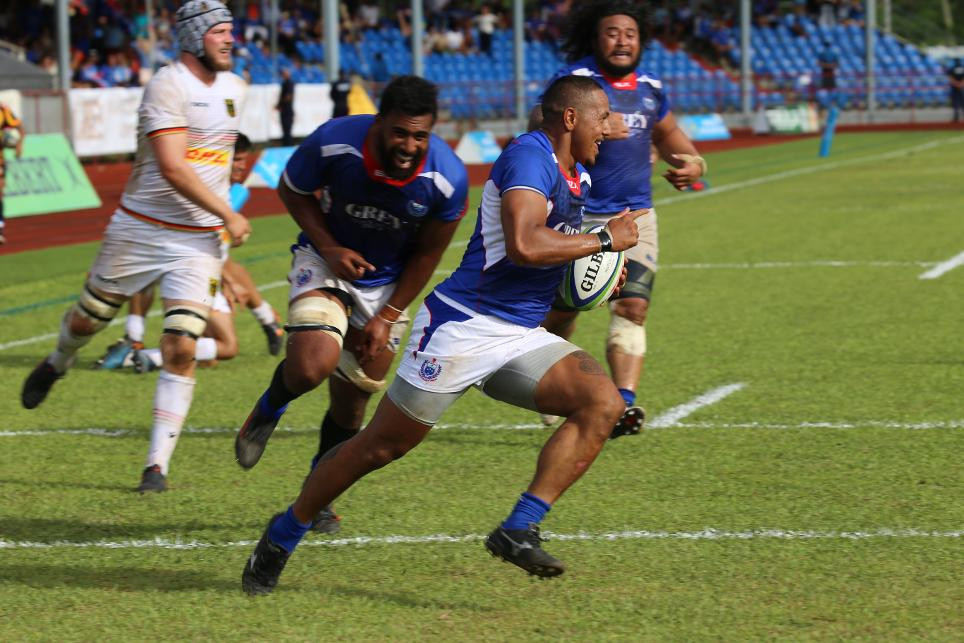 Samoa ran in 10 tries in their comprehensive victory ©World Rugby