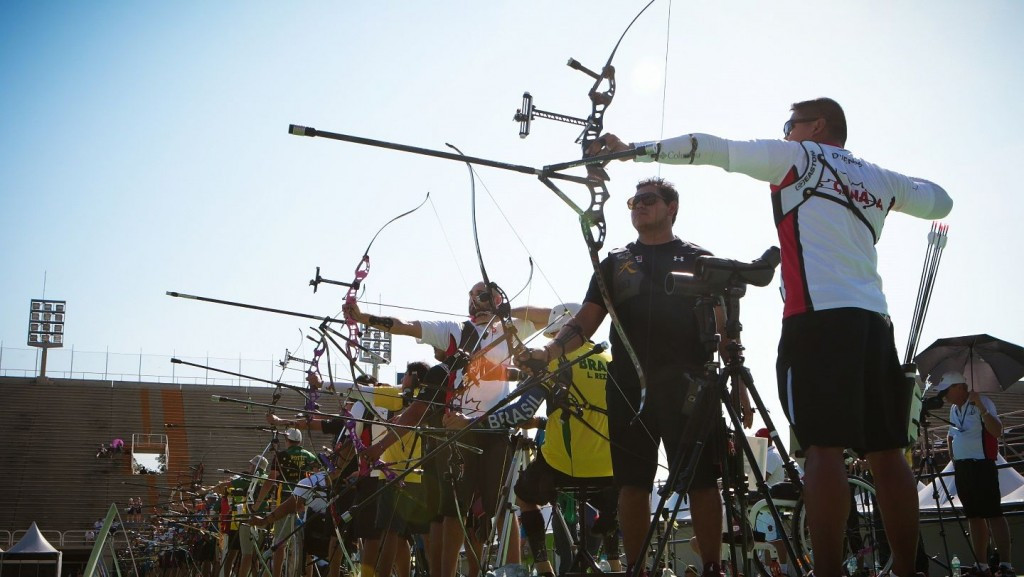 World champion Kim Woojin tops men's qualifying at Rio 2016 archery test event