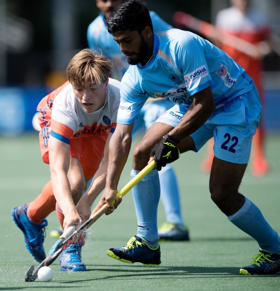 India through to face Australia in FIH Champions Trophy final after draw with hosts The Netherlands