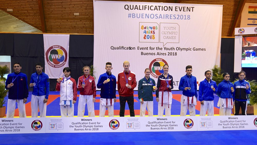 The athletes to have gained qualification line up ©WKF