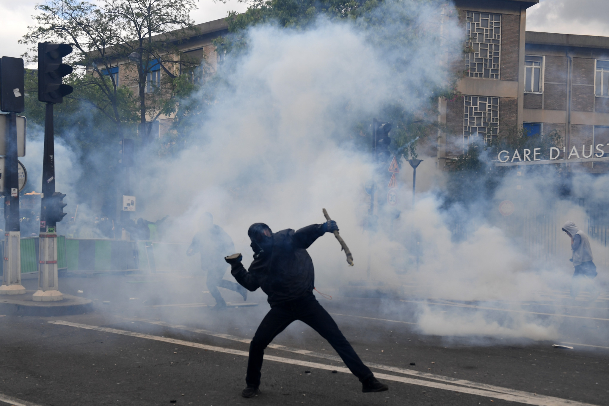 Protesters were in the streets of Paris on May Day this year, 50 years after the demonstrations involving millions of students and striking workers - but the change to open tennis was prompted not by revolutionary tendencies, but commercial imperatives ©Getty Images