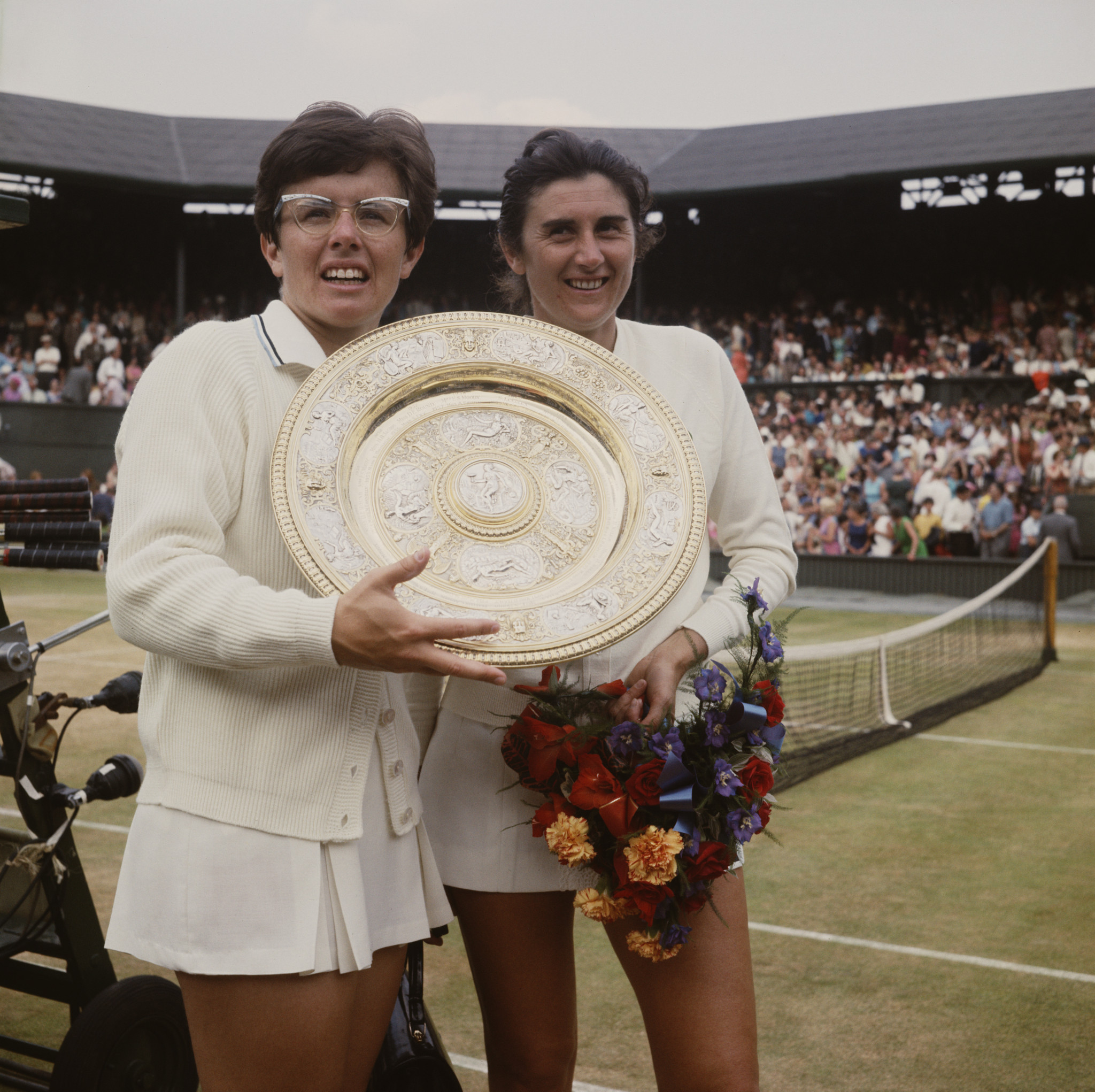 Billie Jean King won the first women's final of the open era at the 1968 Wimbledon Championships, beating Australia's Judy Tegart 9-7, 7-5 in the final ©Getty Images