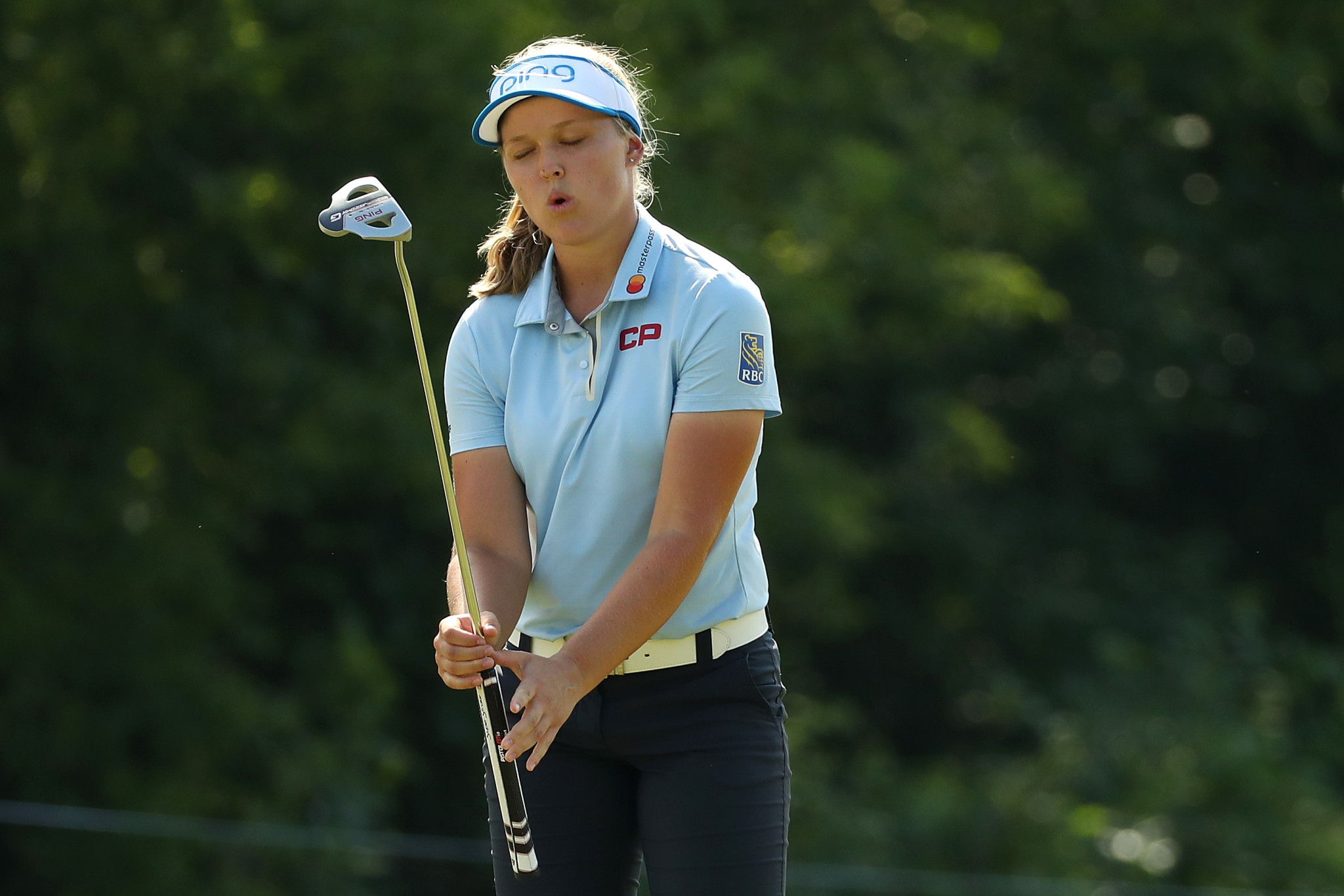 Brooke Henderson started brightly today, opening up a two shot lead on the front nine, before falling two shots behind in the space of three holes on the back ©Getty Images