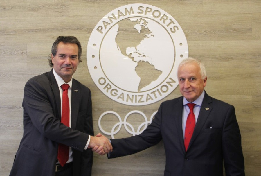 Meetings were also held during the visit between Panam Sports President Neven Ilic and his Colombian Olympic Committee counterpart Baltazar Medina ©Panam Sports