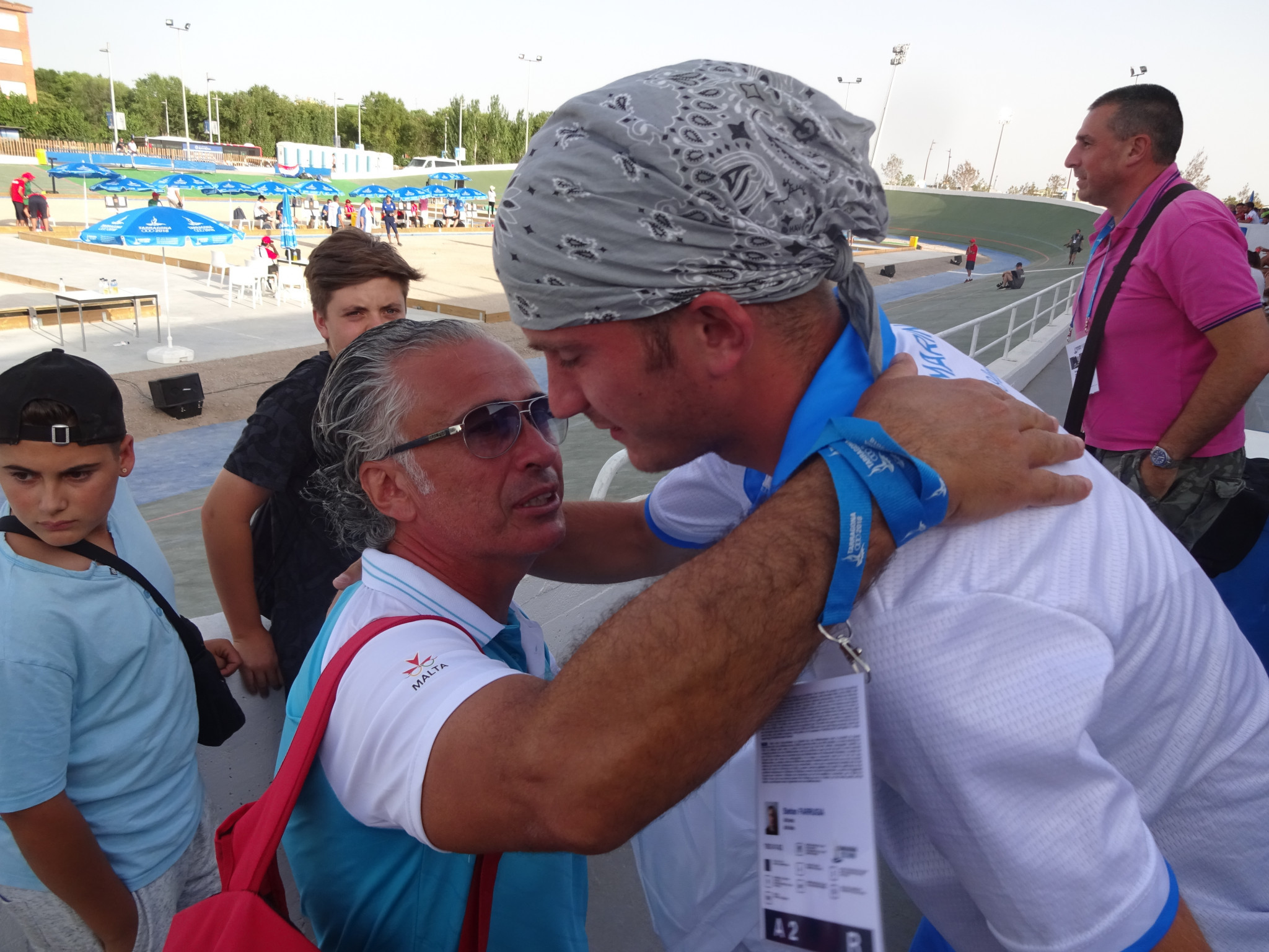 Celebrations continue after the San Marino gold medal ©ITG