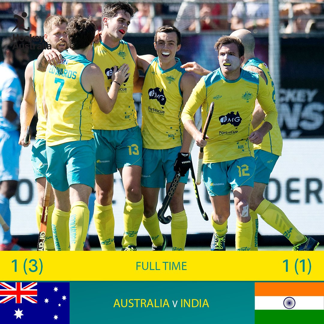 Australia have won the FIH Champions Trophy in a shoot-out against India ©Hockey Australia